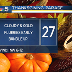 Coming to the #Chicago Thanksgiving Day Parade this AM? If so, BUNDLE UP! Its going to be quite cold! @nbcchicago http://t.co/T4iHbuzV2M