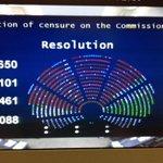 RT @EuroParlPress    Result of Vote for the censure of @JunckerEU Commission  https://t.co/Jr82YKOW6g