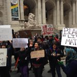 "???? RT @natmusumeci: Protestors chanting ""hands up, dont shoot!"" at the #stoptheparade march @nypmetro http://t.co/EK5J9bkeln"