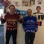 Thanks to @Yellow_Bulldog for sending us these Xmas jumpers! http://t.co/PpsxZLS8xp