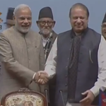 PM @narendramodi and Pakistan PM Nawaz Sharif a short while ago at the SAARC Summit. http://t.co/RJjAuIbFFs