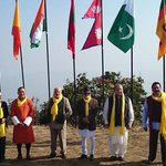 Earlier today: SAARC leaders during the retreat. http://t.co/m7Hutm5kAn