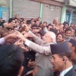 Thank you Kathmandu. PM @narendramodi thanks crowds who thronged his route. http://t.co/RVxWfrOY5S