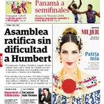 Asamblea ratifica sin dificultad a Humbert. Portada de hoy #Seleedistinto http://t.co/fJFLz9KNtL
