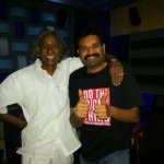 RT @KollywudCinema: #KC Exclusive : @Premgiamaren #Thakaar Movie Song Recording Still #Premgi & #JaychaaSingaram | @dirvenkatprabhu