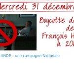BOYCOTT HOLLANDE #HollandeDemission Pour le 31 décembre prenez une bonne résolution : éteignez la Tv ! http://t.co/lziSmnDk6v