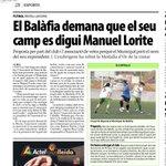 Donem suport a la proposta d #Balàfia que demana que el seu camp es digui Manuel Lorite. Ho proposem demà a #PlePeria http://t.co/zRp1g1baX7