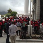 #EFF supporters in front of NA ahead of final sitting for year. #sabconline #parliament http://t.co/BadX6zWdg8
