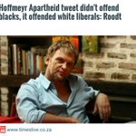 Hoffmeyr Apartheid tweet didnt offend blacks, it offended white liberals: Roodt http://t.co/cnVgMpBtE0 http://t.co/RAf1HvBlD7