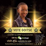 YES LETS VOTE OUR QUEEN PEOPLE sms VOTE GOITSE TO 16626 or use ROA 2783142100414 BOTSWANA we doing this http://t.co/EJ6MfAKW9L