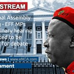 LIVE STREAM: National Assembly - EFF MPs disciplinary hearing to be tabled Watch it here >> http://t.co/rnSyUqADru http://t.co/a4SPNohYiI