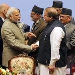 The Prime Minister, Shri @narendramodi & the Prime Minister of Pakistan, Mr. Nawaz Sharif at the SAARC Summit. http://t.co/CoZ1dt1lEw
