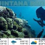 Chetumal Max 29C y Min 19C con posibilidad de lluvia. Para Playa del Carmen y Cancún nublados por la tarde http://t.co/r1dPUcHPjo