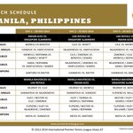 Tennis will never be the same again, for #IPTL is about to #BreakTheCode in #Manila! Heres the schedule: http://t.co/K6LM5JhORv