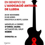RT @CoordONGDLleida: Demà divendres nit a les 22h a @LaBoiteLleida, nit vermella en benefici d @antisidalleida http://t.co/jaM06Ic9QZ