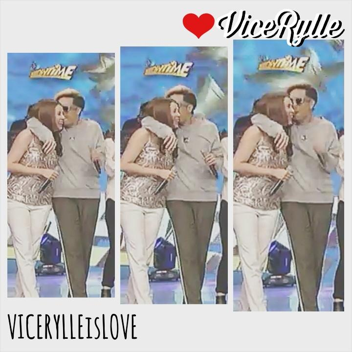 ViceRylle ❤ ⚤ ✯ (@VICERYLLEisLOVE): Vice kissed Karylle on her cheek