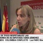 "Vaya impresentables... RT @eldiarioes El Canal 24 Horas de TVE vuelve a presentar a Tania Sánchez como ""señora de"" http://t.co/8OYtQLz0l7"