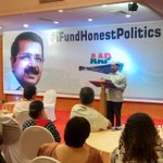 @ArvindKejriwal thanked all the volunteer & supporters from Maharashtra 4 donating 90 lacs today.#IFundHonestPolitics http://t.co/2PEnVkb2Rz