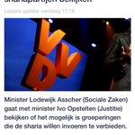 Asscher (VVD?) op zoek naar sharia-partijen... http://t.co/bhxXFySrnB