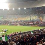Het prachtige spandoek voor de aftrap van Feyenoord - Sevilla. #feysev http://t.co/sd9BtNOpg6