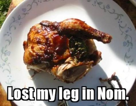 Lost my leg in NOM! http://t.co/7kXxBL1pUD