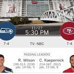 Seahawks GameDay (Week 13): Seattle Seahawks at San Francisco 49ers 5:30pm PST (NBC) #Seahawks http://t.co/z44OQrzdnF