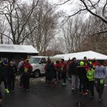 One hour before the race, bus loads are already offloading for the @fleetfeetroc Webster Turkey Trot. http://t.co/NBKA2EUj56