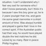 Just some of my thoughts on Phil Hughes #RIPPhilHughes #63NotOut http://t.co/l8hxHPlVic