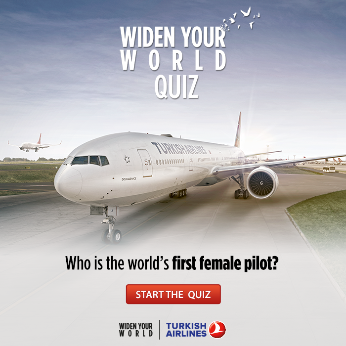 Take our Widen Your World Quiz on Foursquare and be crowned our winner!