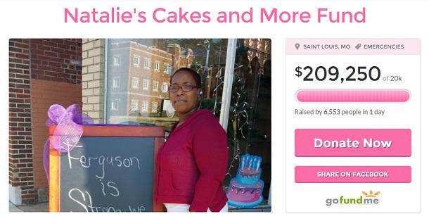 Ferguson Mom Recieves Over $200k to Rebuild Vandalized Bakery http://t.co/HFFKMEUiaA #Ferguson #rebuild #thanksgiving http://t.co/KwT4qdyhas