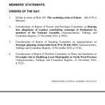 Order 2 up next. #Parliament http://t.co/aODEaoRnal