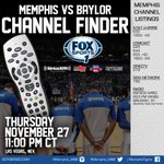 Memphis Basketball plays Baylor tonight at 11 pm CT on FOX Sports 1 and heres where you can find it #GoTigersGo http://t.co/voUviHYHUi