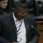 Chairman of the parliamentary committee investigating the conduct of 20 #EFF members Lemias Mashile now LIVE on @DSTV http://t.co/CcWn92FrJc