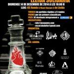 """Els Clubs escacs Pardinyes, @EscacsBalafia i @ADEJOLleida us anunciem el torneig """"Lleida solidària"""" per @la_marato http://t.co/ygJdChaXR8"""