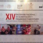 #Oaxaca es sede del XIV Encuentro Nacional de Alimentación y Desarrollo Comunitario. @manecue @GabinoCue @DIF_NMX http://t.co/ggKqr6IOAi