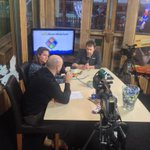Bij #popuptv om het gesprek bij te wonen tussen studio winterland, Ronald ultee en Eveline Lamphen #schiedam #4eSA http://t.co/Sc3RNNPGK1
