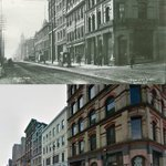 Barrington at Prince St, Halifax  & 100ish years later http://t.co/l9us7mpor3