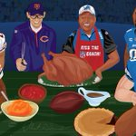 The table is set. The @ChicagoBears and Detroit @Lions are ready to feast. Happy Thanksgiving, everybody! http://t.co/vkbY2BSE7a