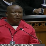 @Julius_S_Malema says ANC members in @ParliamentofRSA were told not to think but vote- LIVE @DSTV 405 http://t.co/waKz8PS7S3