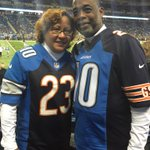 The Fullers have sons on the Bears (Kyle) & Lions (Corey). Here are their custom jerseys to support both (via @Lions) http://t.co/mnUfrbb1E3