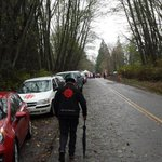 Grand Chief Stewart Phillip. Walking up #BurnabyMountain. http://t.co/Z3EclOSleW
