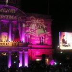 Xmas lights switch-on. The @LeroyVickers vs. Elvis #ILoveHU http://t.co/1w3fFJrBu5