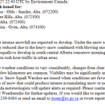 A SNOW SQUALL watch has been issued, and it includes #Calgary.  Squalls could develop tomorrow morning. #yyc #abstorm http://t.co/jSGTMlqnBv