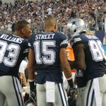 During the review Dez gathered all the receivers together on the sideline #PHIvsDAL http://t.co/mfPVc0XGqW