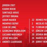 OPSTELLING PSV tegen Estoril (aftrap 21.05 Nederlandse tijd) #estpsv #psv @EuropaLeague http://t.co/x7aE6hIqG3