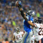 With that catch Calvin Johnson has topped the 10,000 career yard mark. #OnePride http://t.co/CPOB1QwdPw