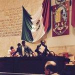 Presidenta de la Mesa Directiva, @lesliejimenezv no se presentó a Sesión @62LegisOficial junto con diputados del PAN http://t.co/XXJrbuJ4a7