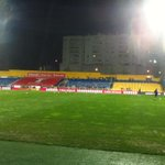 Het PSV-uitvak vanavond: 500 man in de regen. Sfeer zit er goed in. http://t.co/fhGd366pus