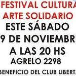 Fiesta cultural solidaria para ayudar al club Infantil Libertad #Rosario http://t.co/unxIsJCuix @RosarioGEN http://t.co/CvjPmhRVfh