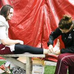 Staff from Sport Medicine keep the Marauders game ready #gomacgo @McMasterSports http://t.co/jmnxCe61zi